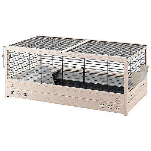 Ferplast FSC Holzkäfig für Kaninchen ARENA 120, mit Zubehör inklusive