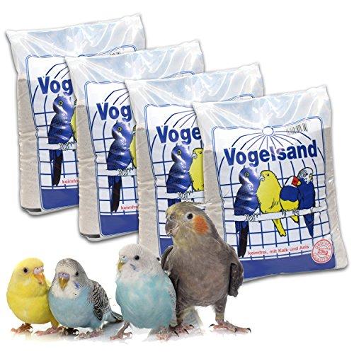 25 kg Vogelsand Naturweiss mit Kalk u. Anis (5 x 5 kg) hygienisch + keimfrei in Bester Qualität