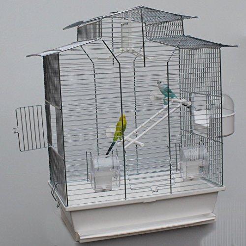 Heimtiercenter Vogelkäfig,Wellensittichkäfig,Exotenkäfig,60 cm Vogelkäfig Vogelbauer Wellensittich Kanarien Voliere Vogelhaus Käfig IZA 2 II weiß