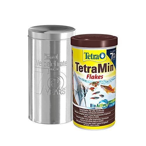 Tetra TetraMin Flakes 1L - Fischfutter in Flockenform in der 70 Jahre Schmuckdose, 1er Pack (1 x 0.21 kilograms)